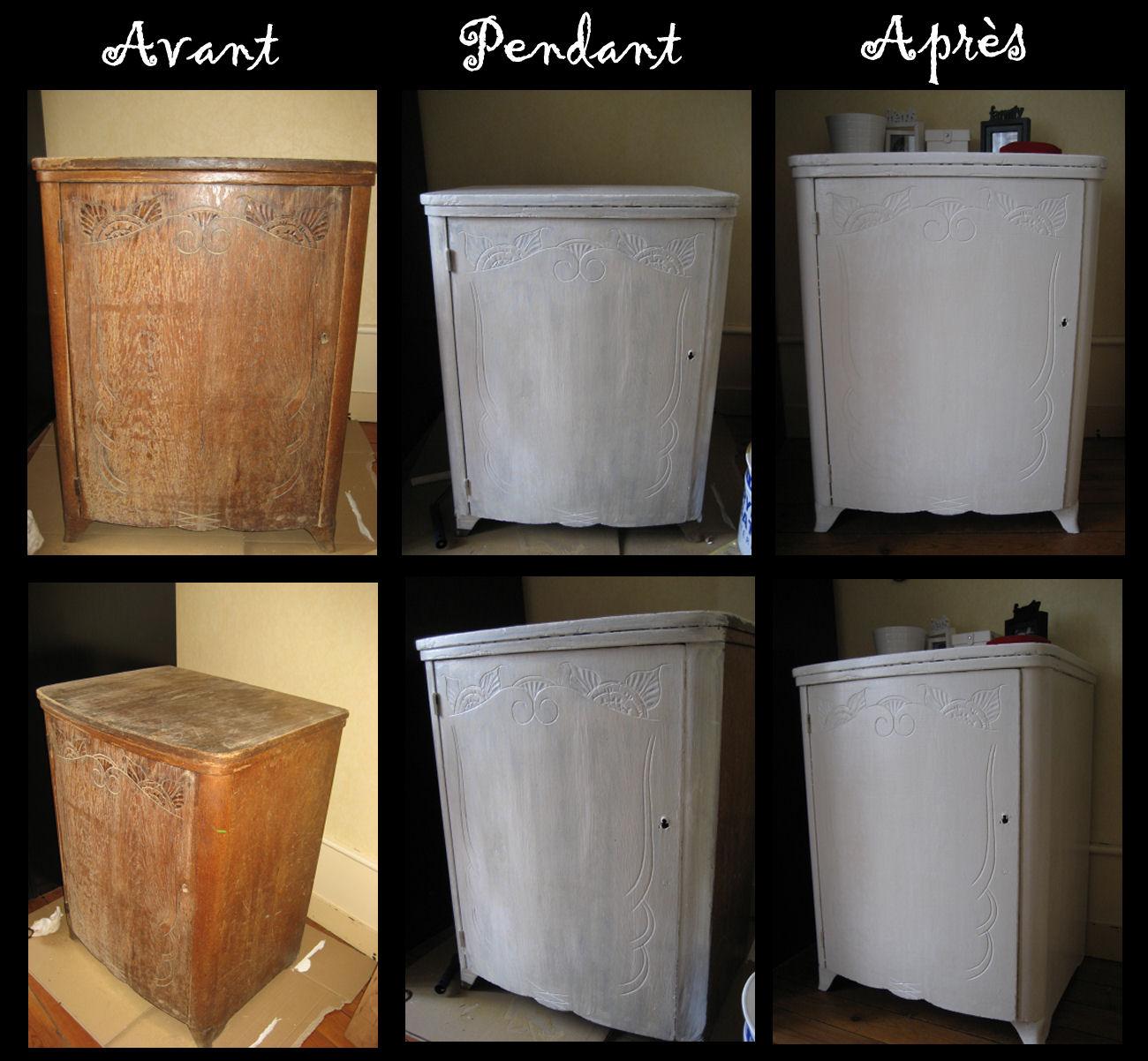 Repeindre Un Meuble Peinture Pour Repeindre Meuble Cuisine Avec  # Renover Un Meuble En Blanc Et Marron